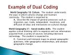 example of dual coding41