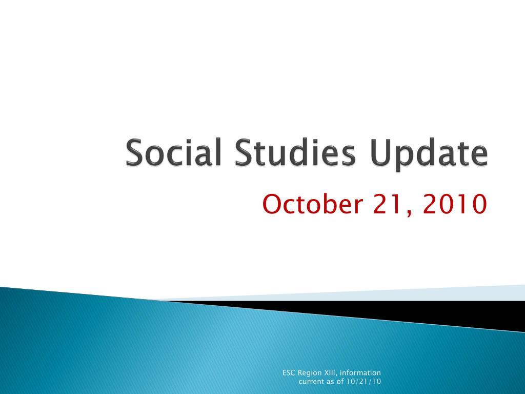 social studies update l.