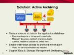 solution active archiving