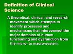 definition of clinical science