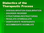 dialectics of the therapeutic process