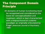the component domain principle