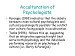acculturation of psychologists