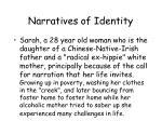 narratives of identity