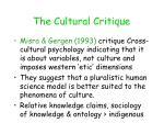 the cultural critique