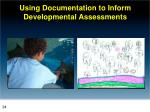 using documentation to inform developmental assessments