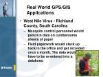 real world gps gis applications