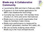 blade org a collaborative community