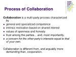 process of collaboration
