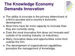 the knowledge economy demands innovation