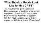 what should a rubric look like for this cabs