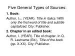 five general types of sources
