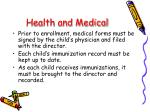health and medical