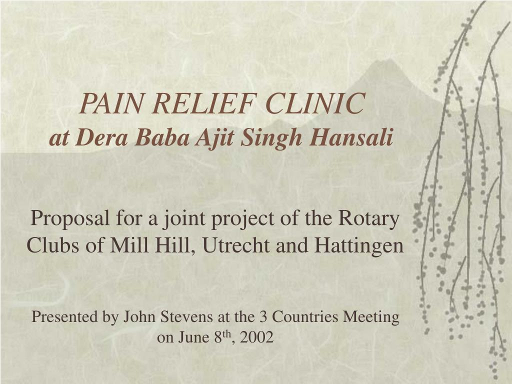pain relief clinic at dera baba ajit singh hansali l.