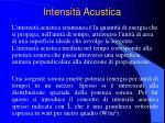 intensit acustica