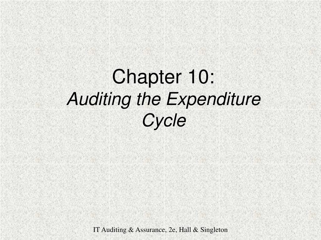 chapter 10 auditing the expenditure cycle l.