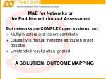 m e for networks or the problem with impact assessment11