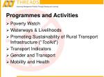 programmes and activities