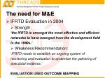 the need for m e8