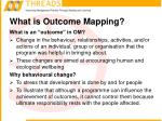 what is outcome mapping