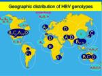 geographic distribution of hbv genotypes