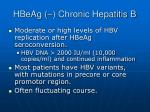 hbeag chronic hepatitis b