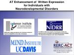at enhancement of written expression for individuals with neurodevelopmental disorders2