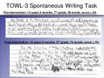towl 3 spontaneous writing task24