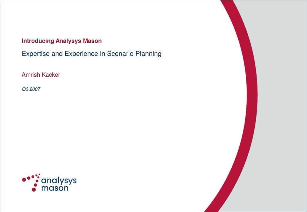 expertise and experience in scenario planning l.