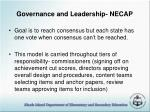 governance and leadership necap