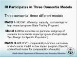 ri participates in three consortia models