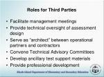 roles for third parties