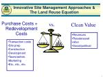 innovative site management approaches the land reuse equation