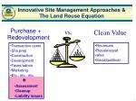 innovative site management approaches the land reuse equation5