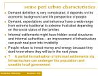 some peri urban characteristics