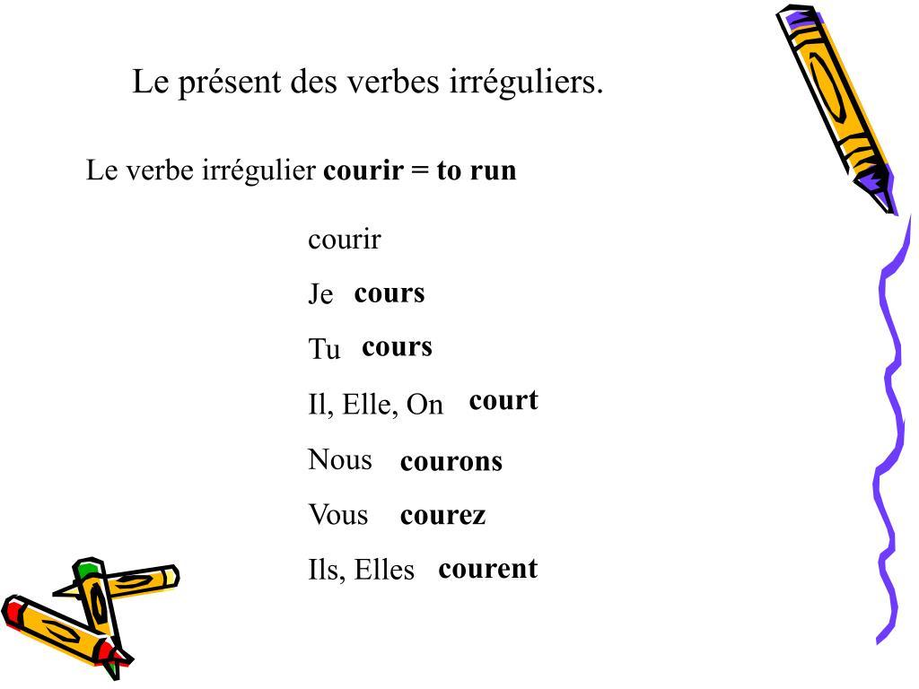 Ppt Le Present Des Verbes Reguliers Powerpoint Presentation Free Download Id 538261