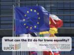 the european union and gender identity
