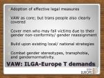 vaw ilga europe t demands