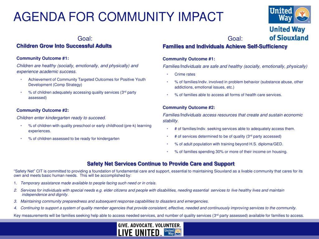 agenda for community impact l.