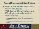 federal procurement data system
