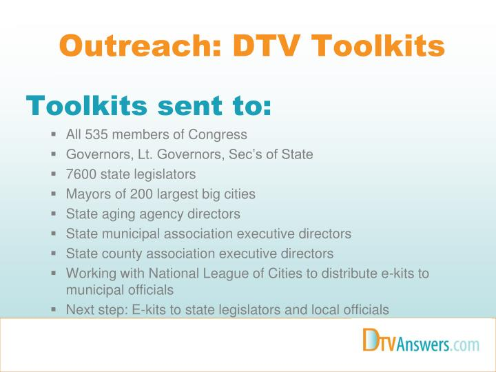Outreach: DTV Toolkits