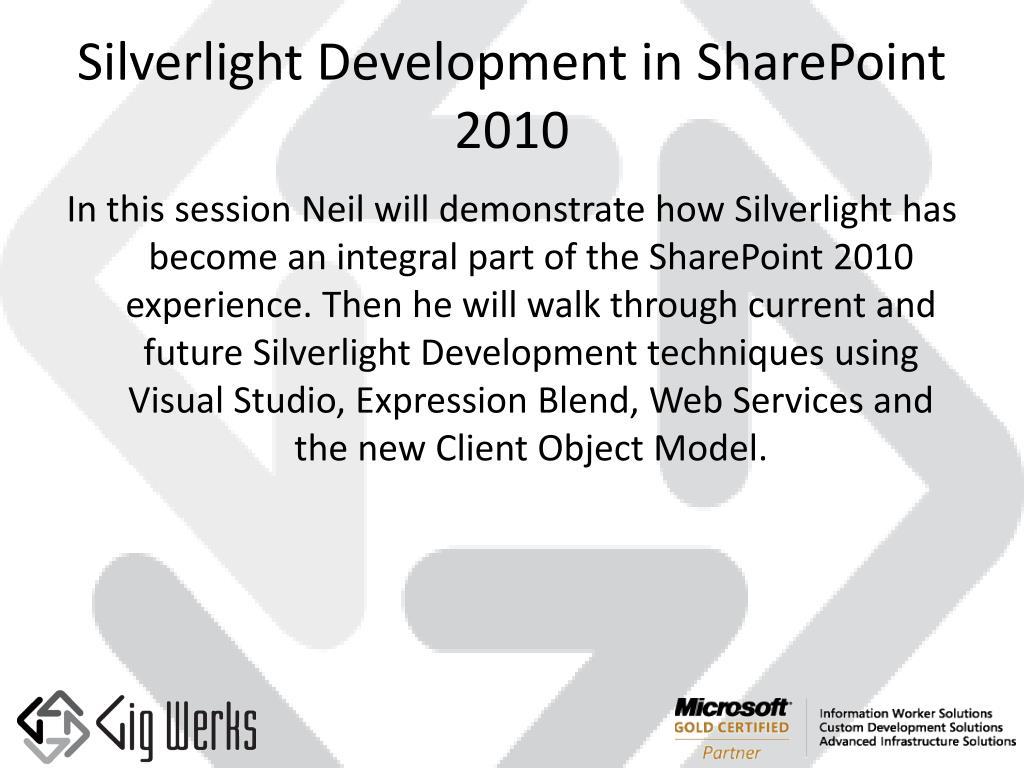 silverlight development in sharepoint 2010 l.