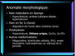 anomalie morphologique
