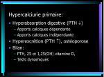hypercalciurie primaire