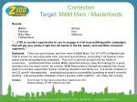 confection target m m mars masterfoods