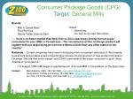 consumer package goods cpg target general mills