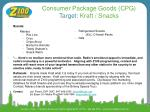 consumer package goods cpg target kraft snacks