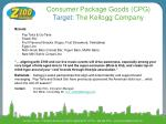 consumer package goods cpg target the kellogg company
