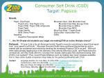 consumer soft drink csd target pepsico