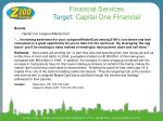 financial services target capital one financial
